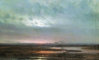 sundown over a marsh 1871