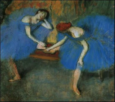 two dancers in blue