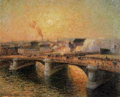 the pont boieldieu rouen sunset 1896