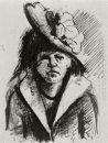 Woman With Hat Half Length 1886