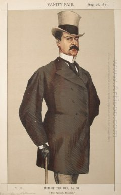 Men Or Women Of The Day No 300 Caricature Of Don Manuel Rances Y