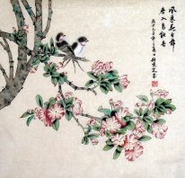 Birds-To take the wind from the dance - Chinese Painting