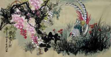 Pheasant&Flowers - Chinese Painting