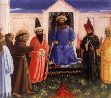 The Trial By Fire Of St Francis Before The Sultan