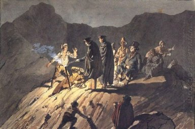 Participants Of The Expedition To Mount Vesuvius