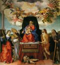 Enthroned Madonna With Angels And Saints St Catherine Of Alexand