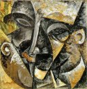 Dynamism Of A Man S Head 1913