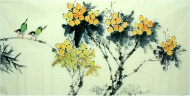 Birds-Fruit - Chinese Painting