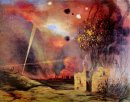Landscape Off Ruins And Fires 1914