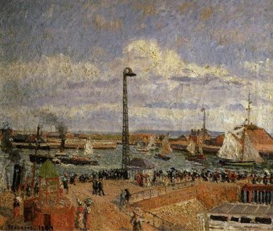the pilot s jetty le havre high tide afternoon sun 1903