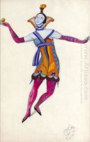"Costume design for ""Venetian madmen"" - Colombina"