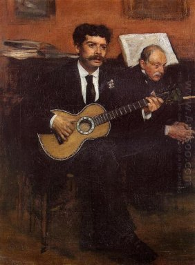 portrait of lorenzo pagans spanish tenor and auguste degas the a
