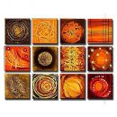 Hand-painted Abstract Oil Painting - Set of 12