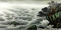 A boat in the sea - Chinese Painting