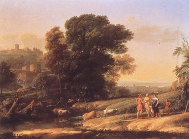Landscape With Cephalus And Procris Reunited By Diana 1645 1
