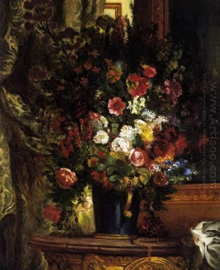 Vase Of Flowers On A Console 1849