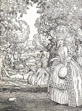 Picnic Illustration To The Book Of The Marquise