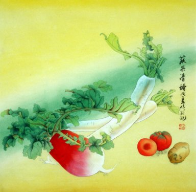 Vegetable & Fruit-Semi-manual - Chinese Painting