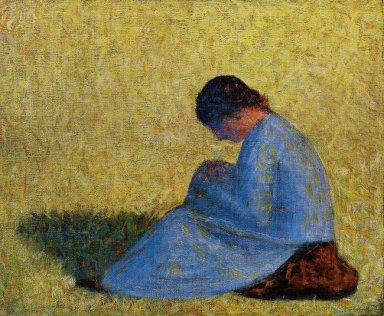 Peasant Woman Seated In The Grass 1883