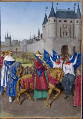 Entry Of Charles V In Paris 1460