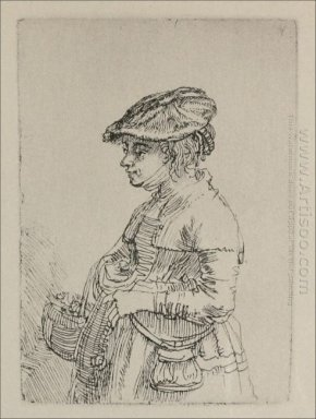 A Young Woman With A Basket 1642