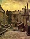 Backyards Of Old Houses In Antwerp In The Snow 1885