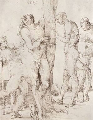 study sheet with six nude figures 1515