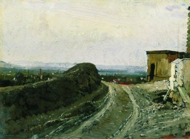 The Road From Montmartre In Paris 1876