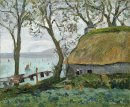 A Cottage With Thatched Roof In Douarnenez 1898