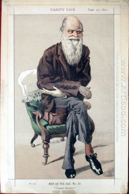 Caricature Of Charles Darwin From Vanity Fair Magazine