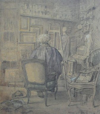 Corot In The Studio Of Constant Dutilleux 1856