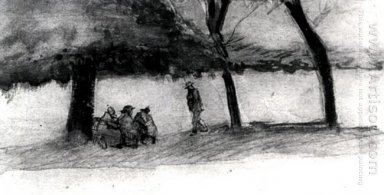 Bench With Three Persons 1882
