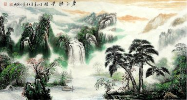 Landscape with water - Chinese Painting