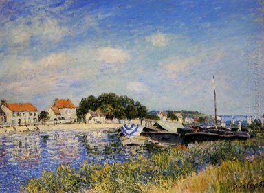 banks of the loing at saint mammes 1885 1