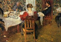 The End Of Breakfast a Madam Vuillard