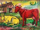 Red And Yellow Cows 1945
