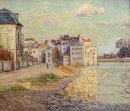Vallen av Lagny Under Flood Water 1908