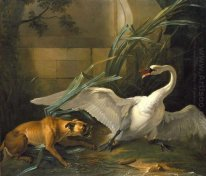 Swan Attacked by a Dog