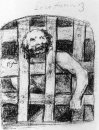 Lunatic Behind Bars 1828
