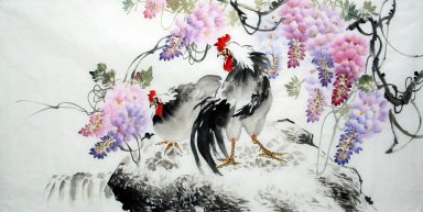 Cock - Chinese Painting