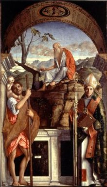 St Jerome St Christopher And St Augustine 1513