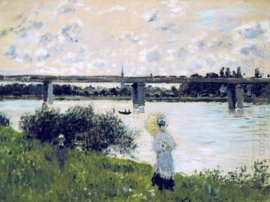 The Promenade Near The Bridge Of Argenteuil