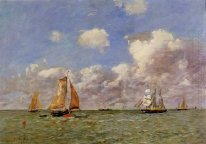 Fishing Boats At Sea 1895
