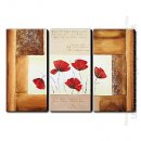 Hand-painted Oil Painting Floral - Set of 3