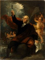 Benjamin Franklin Dessin Electricity from the Sky
