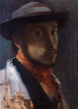 self portrait in a soft hat 1858