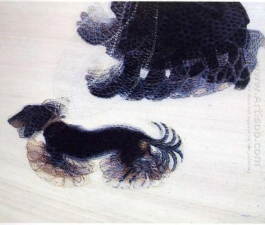 Dynamism Of A Dog On A Leash 1912