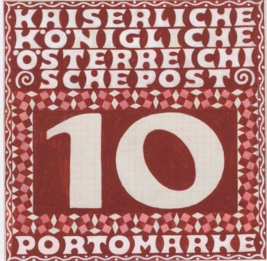 Design For The 10 Heller Porto Brand Of Austrian Post In The Lev