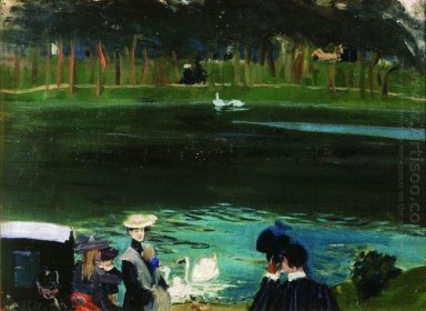 In The Bois De Boulogne 1909