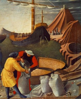 The Story Of St Nicholas St Nicholas Saves The Ship Detail 1448